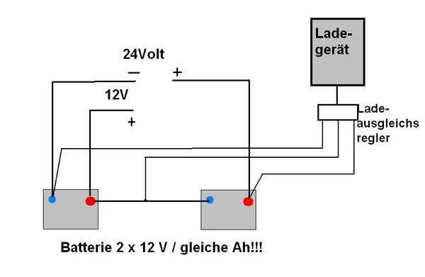 2x 12 in Reihe = 24Volt und 2x 12 Volt? - boote-forum.de - Das Forum ...