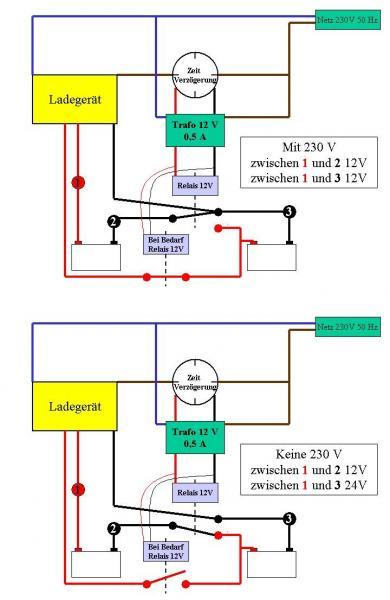 12V & 24V mit 12 Volt Ladegerät (Schaltplanfrage) - boote-forum.de ...