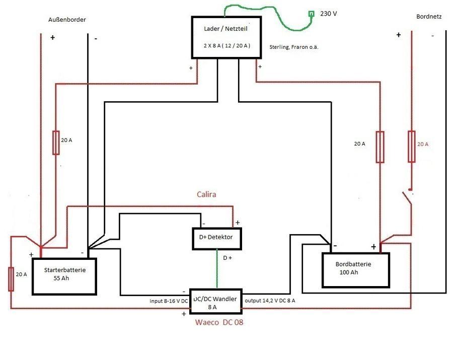 Ausgezeichnet Einfacher Doppel Batterie Schaltplan Bilder ...