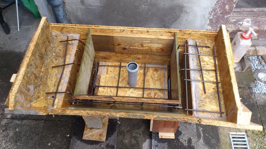 Waschtisch selber bauen beton  Wandwaschbecken aus Beton selbst gießen - boote-forum.de - Das ...