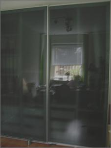 pax schiebet ren ikea milchglas grau 200 x 236 cm. Black Bedroom Furniture Sets. Home Design Ideas