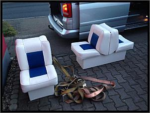 back to back sitze 2 x nagelneu blau wei boote. Black Bedroom Furniture Sets. Home Design Ideas