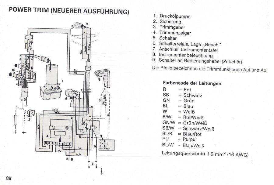 Trimmpumpe Stromlaufplan - boote-forum.de - Das Forum rund um Boote