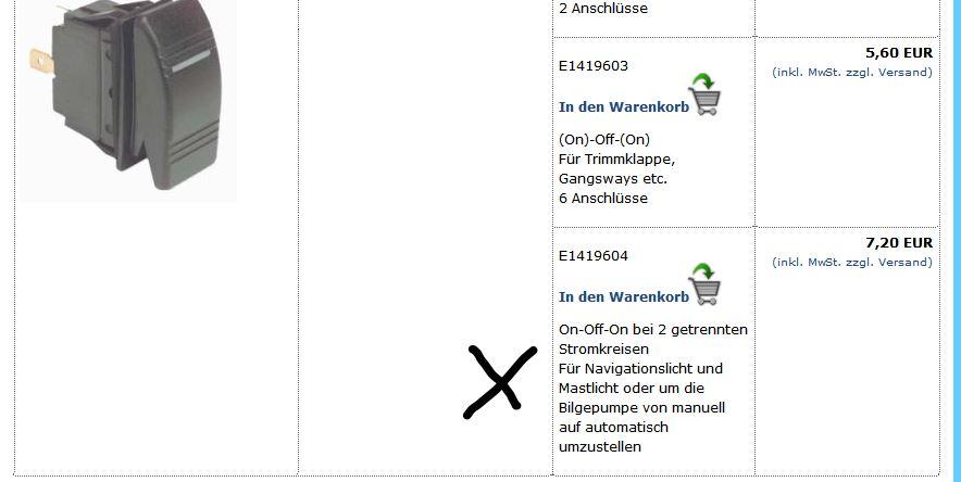 Welchen An-aus-An Schalter für Navigationsbeleuchtung - boote-forum ...