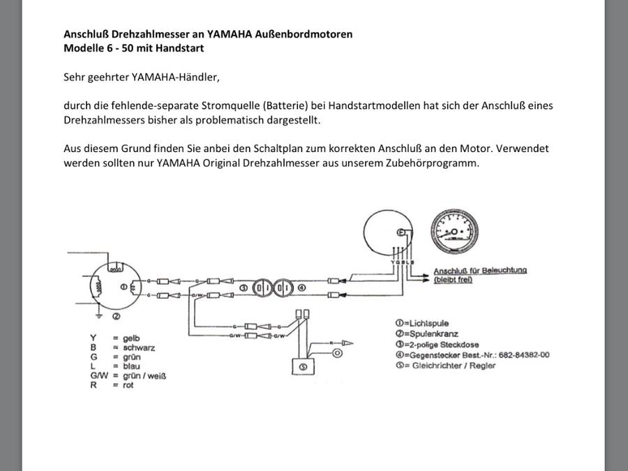Drehzahlmesser am Yamaha Handstarter - boote-forum.de - Das Forum ...