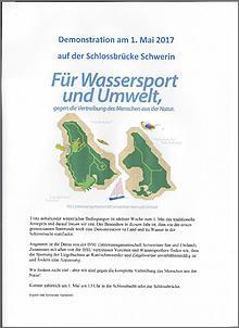 Klicken Sie auf die Grafik für eine größere Ansicht  Name:Demonstration am 1. Mai auf der Schlossbrücke Schwerin.jpg Hits:142 Größe:52,4 KB ID:748844